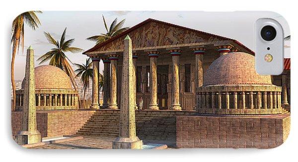 Caesareum Temple Ancient Alexandria IPhone Case by Don Dixon