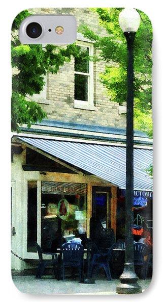 Cafe Albany Ny Phone Case by Susan Savad