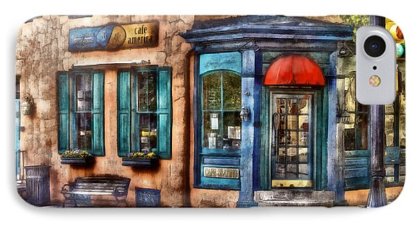Cafe - Cafe America Phone Case by Mike Savad