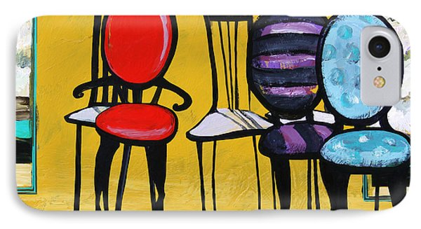 Cafe Chairs Phone Case by Karon Melillo DeVega