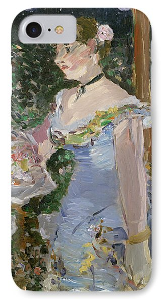 Cafe Concert Singer  IPhone Case by Edouard Manet