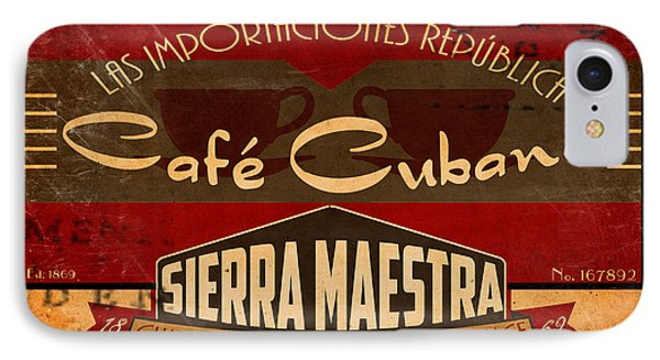 Cafe Cubano Crate Label IPhone Case by Cinema Photography