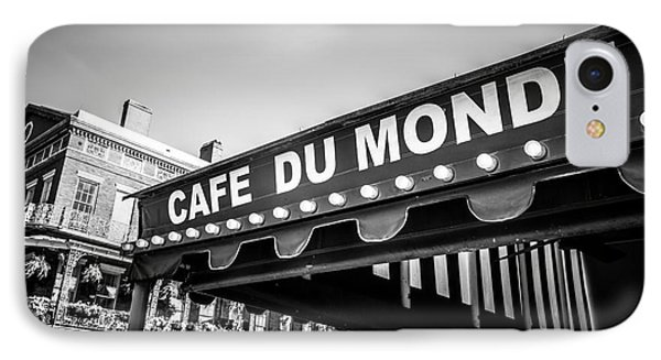 Cafe Du Monde Black And White Picture IPhone Case by Paul Velgos
