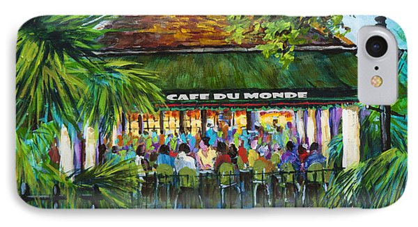 IPhone Case featuring the painting Cafe Du Monde Morning by Dianne Parks