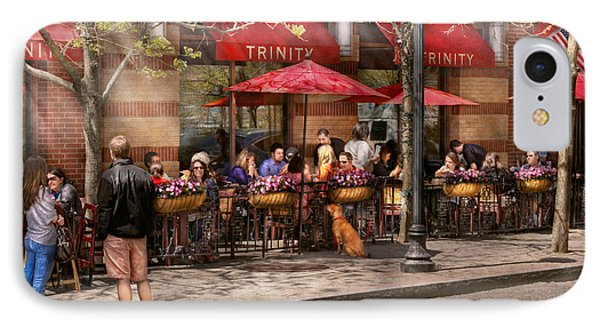 Cafe - Hoboken Nj - Cafe Trinity  Phone Case by Mike Savad