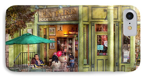 Cafe - Hoboken Nj - Empire Coffee And Tea Phone Case by Mike Savad