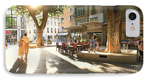 Cafe, Orange, Provence France IPhone Case by Panoramic Images