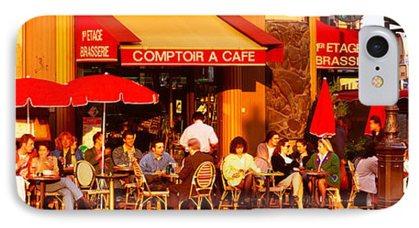 Cafe, Paris, France IPhone Case by Panoramic Images
