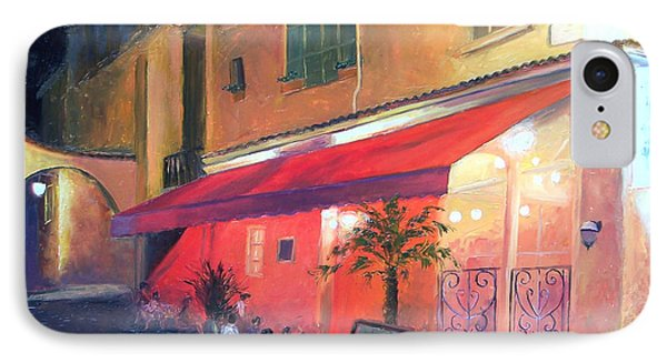Cafe Scene Cannes France IPhone Case by Jan Matson