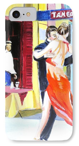 IPhone Case featuring the painting Cafe Tango by Judy Kay