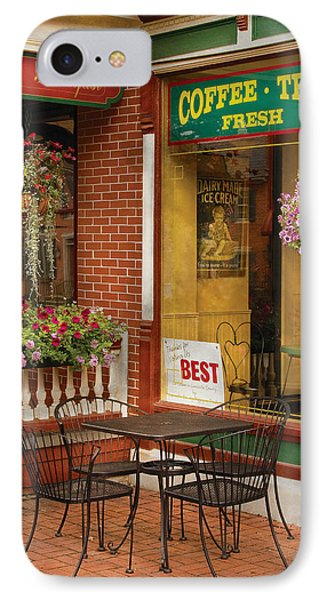 Cafe - The Best Ice Cream In Lancaster Phone Case by Mike Savad