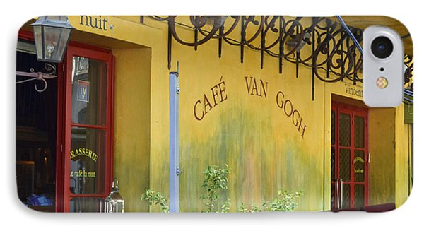 IPhone Case featuring the photograph Cafe Van Gogh by Allen Sheffield