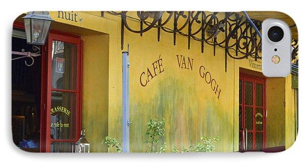 Cafe Van Gogh IPhone Case by Allen Sheffield