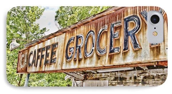 Caffee Grocery Phone Case by Scott Pellegrin