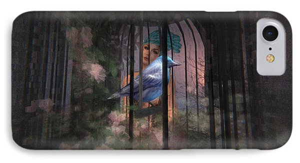 Caged Bird IPhone Case by Kylie Sabra