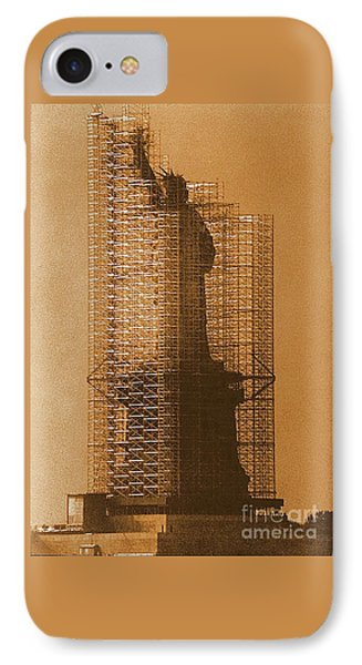 IPhone Case featuring the photograph Lady Liberty Statue Of Liberty Caged Freedom by Michael Hoard