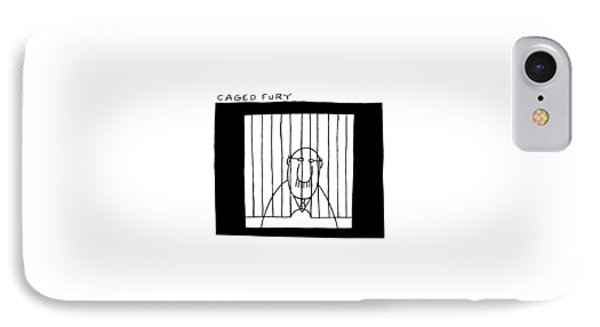 Caged Fury IPhone Case by Charles Barsotti