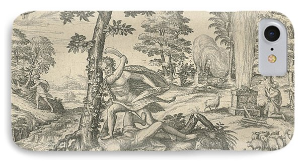 Cain And Abel, Attributed To Symon Novelanus IPhone Case by Symon Novelanus