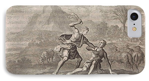 Cain Kills Abel, Jan Luyken, Pieter Mortier IPhone Case by Jan Luyken And Pieter Mortier