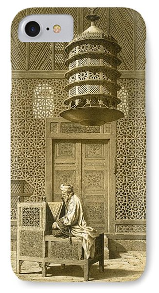 Cairo Funerary Or Sepuchral Mosque Phone Case by Emile Prisse d'Avennes