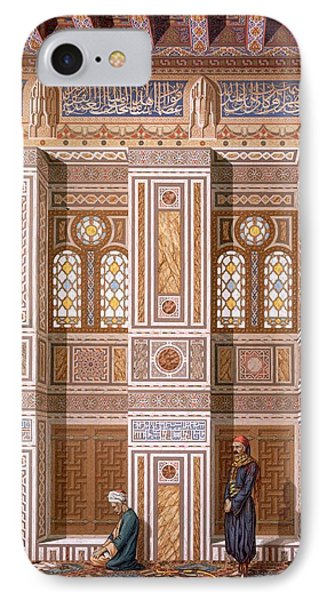 Cairo Interior Of The Mosque IPhone Case by Emile Prisse d'Avennes