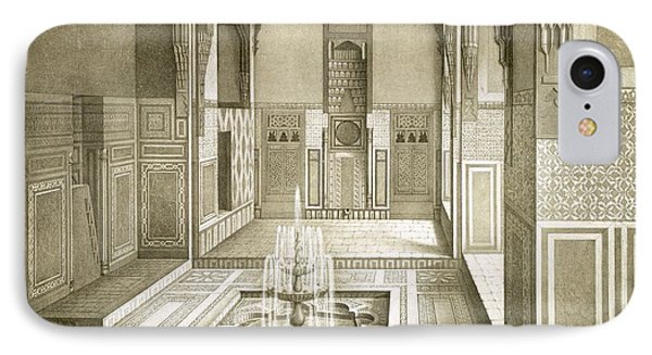 Cairo Mandarah Reception Room, Ground IPhone Case by Emile Prisse d'Avennes