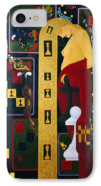 Caissa The Muse Of Chess IPhone Case by Nicolas Sphicas
