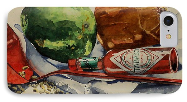 IPhone Case featuring the painting Cajun Cookin' by Jeffrey S Perrine