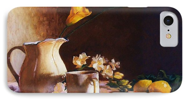 Cala Lily And Lemon IPhone Case