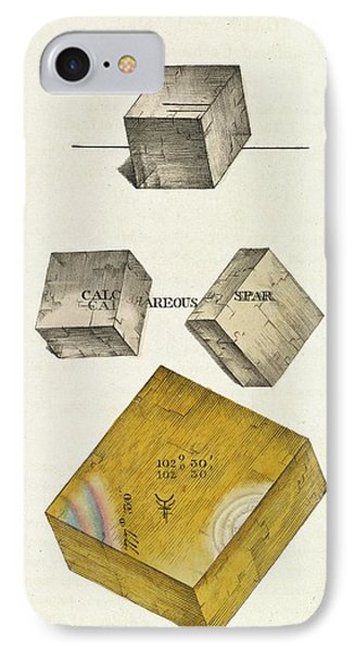 Calcium Carbonate Crystals IPhone Case by Royal Institution Of Great Britain