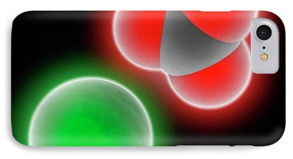 Calcium Carbonate Molecule IPhone Case by Laguna Design