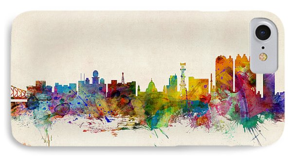 Calcutta India Skyline IPhone Case by Michael Tompsett