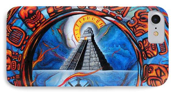 Calendario Maya IPhone Case by Angel Ortiz