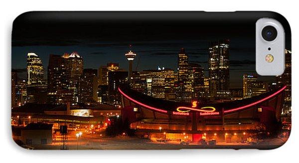 Calgary At Night Phone Case by Guy Whiteley
