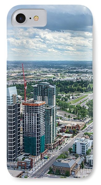 Calgary Skyscrapers Seen From The Calgary Tower IPhone Case by Gerda Grice