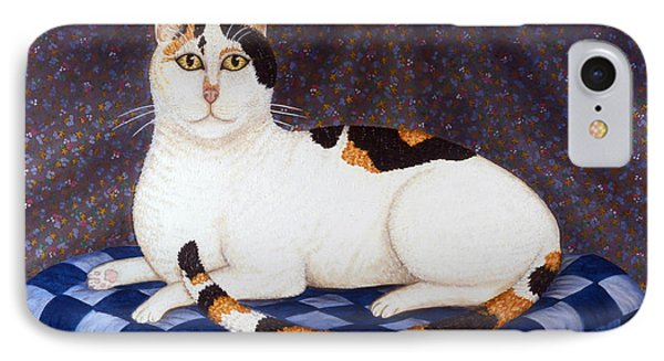 Calico Cat Portrait Phone Case by Linda Mears
