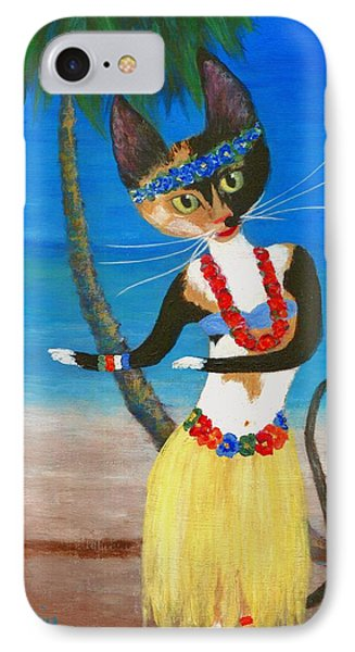 Calico Hula Queen IPhone Case