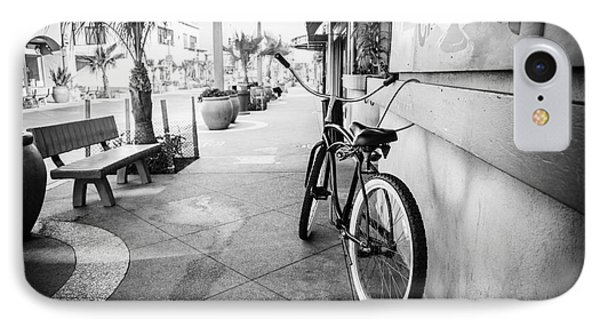 California Beach Cruiser Bike Black And White Photo IPhone Case