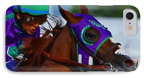 California Chrome Kentucky Derby IPhone Case by Donna  Schellack