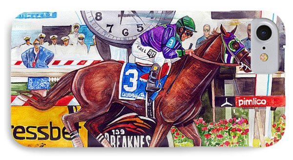 California Chrome Wins The Preakness Stakes Phone Case by Dave Olsen