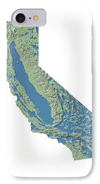 California Groundwater Map IPhone Case by Nicolle R. Fuller