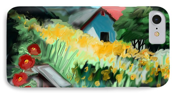 IPhone Case featuring the painting California by Jean Pacheco Ravinski