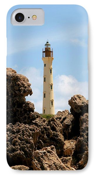 California Lighthouse Aruba IPhone Case by DJ Florek