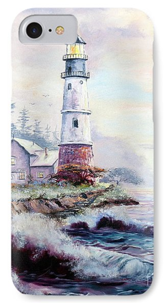IPhone Case featuring the painting California Lighthouse by Lee Piper