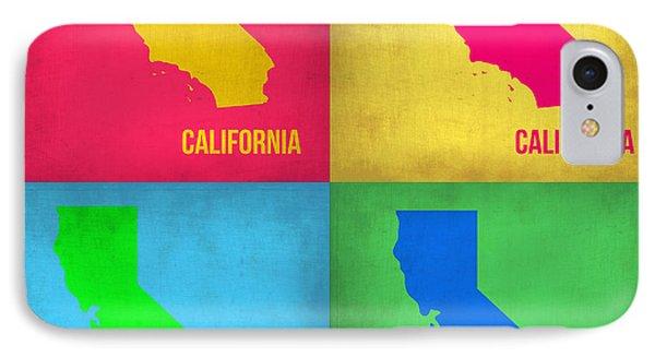 California Pop Art Map 1 IPhone Case by Naxart Studio