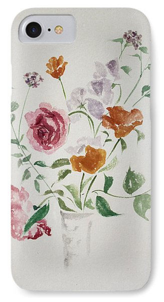 California Poppies And Roses In A Vase IPhone Case by Asha Carolyn Young