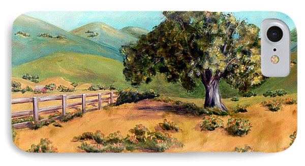 IPhone Case featuring the painting California Poppies II by Terry Taylor