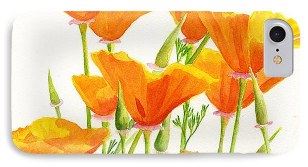 California Poppies Square Design IPhone Case by Sharon Freeman
