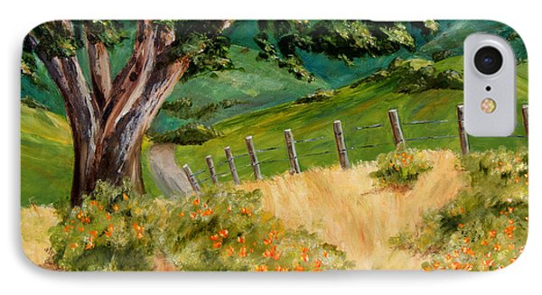 IPhone Case featuring the painting California Poppies by Terry Taylor