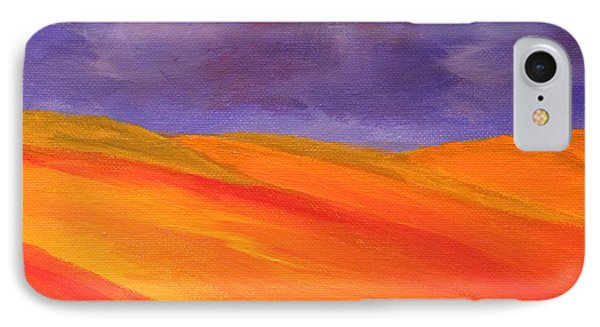 IPhone Case featuring the painting California Poppy Hills by Janet Greer Sammons
